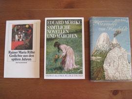 Die Bücher finden Sie im Shop unter Lyrik, Märchen und Biographien