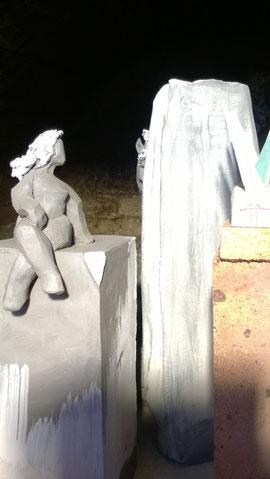 """Mascotte de cuisson à l'enfournement ...Sculpture grès noir de Juan José Ruiz dit """"Caco"""""""