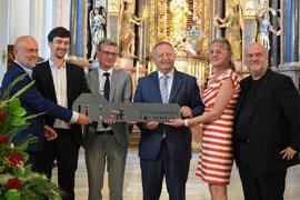 Schlüsselübergabe in der Musikakademie durch den Bayerischen Staatsminister Bernd Siebler