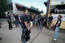 Das Team bei der Ankunft