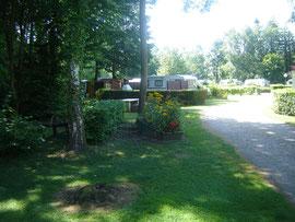 Vue sur le camping