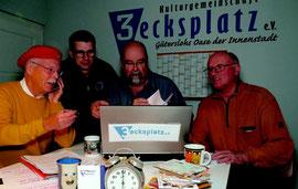 Die Programm-Macher von Freitag18: Alfried Gutsche, Frank Stiller, Jay Minor, Wolfgang Stöttwig.