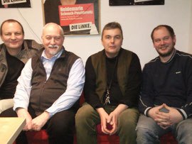 v.l.n.r.  Mathias, Joachim, Dietmar und Andreas