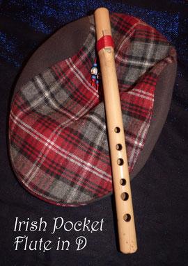 Irish Pocket Flute in D - spielbar wie eine Blockflöte