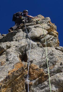 Trad-Kletterkurs, Gast im Vorstieg.