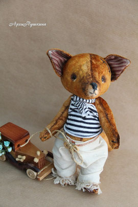 интерьерная игрушка, звери в стиле тедди, мишка, зайка, кошка, лис