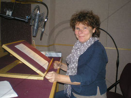 Imelda Staunton at the recording