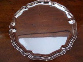 Tablett Wilkens Silber Chippendale