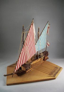 Holzmodell einer Galeere aus dem 18. Jahrhundert / © Sammlung PRISARD