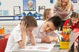 reizüberflutetes Schulkind