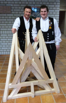 Obermeister Christian Denz mit Europameister Andreas Fichter
