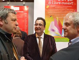 Joseph-François Kremer-Marietti (au centre) directeur de la Culture et du Patrimoine