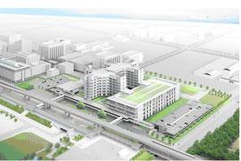 新中央市民病院イメージパース