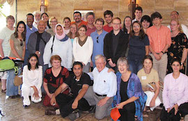 American Friends Service Committee Middle East Planning Meeting, Amman, Jordan (Christina Graf, front row in purple)