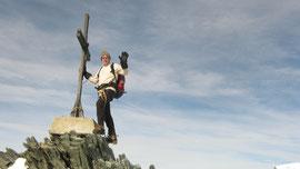 Renzo au sommet de l'Allalinhorn