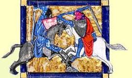 Le combat de Gauvain et Yvain, dans Yvain ou le chevalier au lion