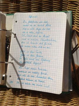 Petra Mettke/Gigabuch Michael 03/Originalordner/1993/Songtext aus dem Notat 126 auf Seite 284