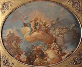 Giacinto Diana, L'Olympe, huile sur toile, Musée des beaux-arts de Brest.