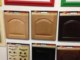 Holz der Küchenmöbel