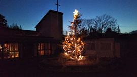 気仙沼第一聖書パプテスト教会のクリスマスツリー