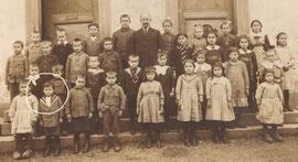 La classe unique de Levoncourt vers 1920