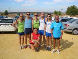Atletas de Lucena, momentos después de haber acabado la prueba.