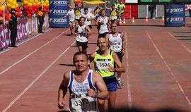 Álvarez en la pasada maratón de Sevilla.
