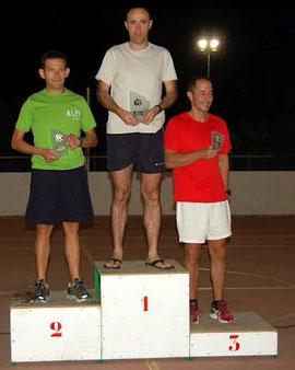 Francisco Roldán a la izquierda segundo en la categoría Veteranos B.