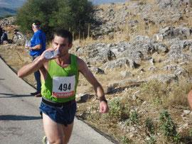 Javi Vergara, en una imagen de archivo en la subida a la Sierra de Cabra en el pasado 2011.