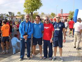 Componentes del Club Maratón Lucena, después  de haber finalizado la prueba.