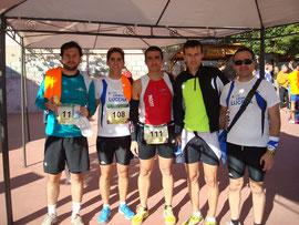 De izq. a der. Kiki Some, Joaquín Serrano, David Dorado, Juan Carlos Cruces y Paco Dorado.