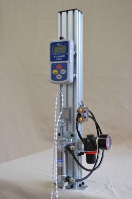 簡易樹脂ボールチェーン引張り強度試験機