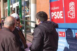 Miembros del PSOE vicalvareño el pasado 12 de enero en una imagen del periódico El Distrito