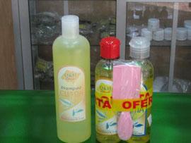 shampoo y loción de cuasia piojos
