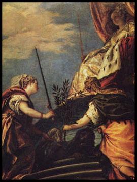 Venezia in trono con Giustizia e pace del Veronese