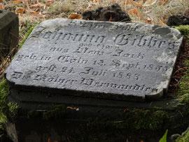 Johanna Gibbes Grab Nr. 34
