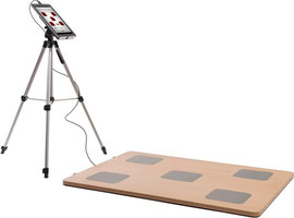 AgilityBoard mit Tablet und Stativ