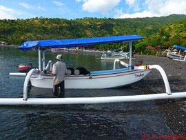 Fischerboot, bzw. in unserem Fall: Tauchboot