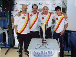 Il SSC Messina posa con la Coppa Italia 2009