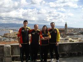 Il SSC Messina alla Serie D 2009 con lo sfondo della città