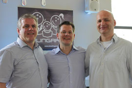 v.l.n.r.: Jens Lüdert Heimleitung, Olaf Stiller Inhaber BAM, Thomas Gwosdz TG SME Marketing