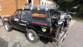 Unser Monster mit der KTM Huckepack
