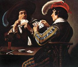 llus.: Theodoor Rombouts - Joueurs de cartes