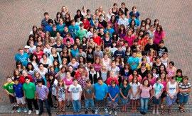 Ein Teil von gut 600 Schülern