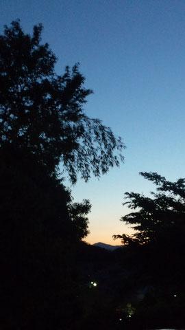 夕日が落ちて。。。