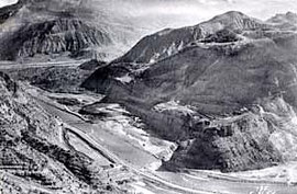Le barrage en 1960