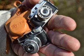 Auch diese Miniaturkameras gibt`s zu bestaunen....