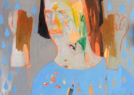 Morgen bin ich kein Mensch mehr II (Serie), Öl auf Leinwand, 120cm x 100cm, 2016