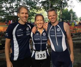 Sprint-Staffel in Thüle: Marc und Fleur Suin de Boutemard, Ralf Meyer