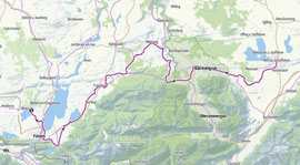 Vom Hopfensee nach Murnau am Staffelsee